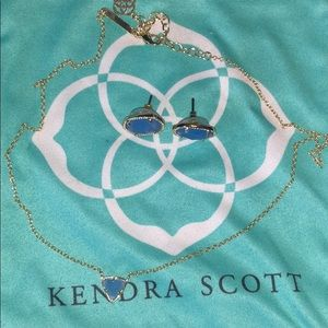 Kendra Scott earring and necklace
